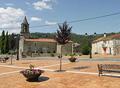 Exterior igrexa de San Pedro de Crecente