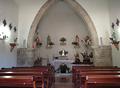 Interior igrexa de Santa Cruz