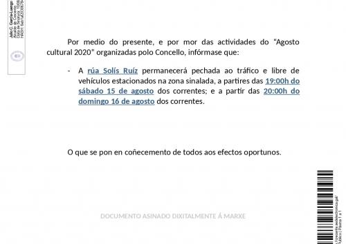 BANDO CORTE CALLE SOLÍS RUÍZ 15 Y 16 AGOSTO